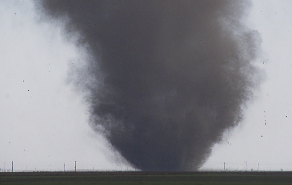 Dusty tornado near Minneola, KS on October 26, 2006