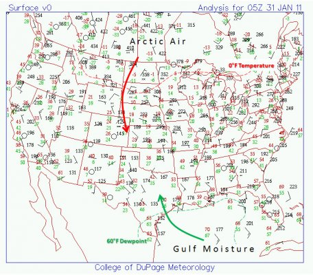 Surface map as of 11pm on 2001 Jan 30